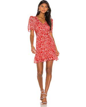 Красное платье на молнии с подкладкой Parker