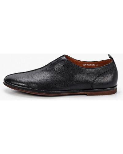 Черные кожаные туфли Rossini Roberto