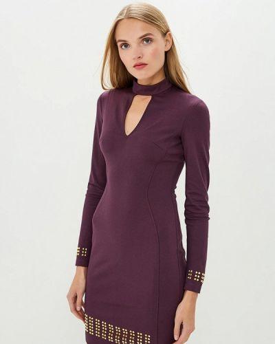 Фиолетовое джинсовое платье Versace Jeans