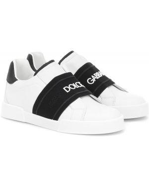 Кроссовки кожаные Dolce & Gabbana Kids