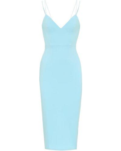 Платье миди - синее Alex Perry