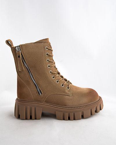 Бежевые кожаные ботинки Prima D'arte