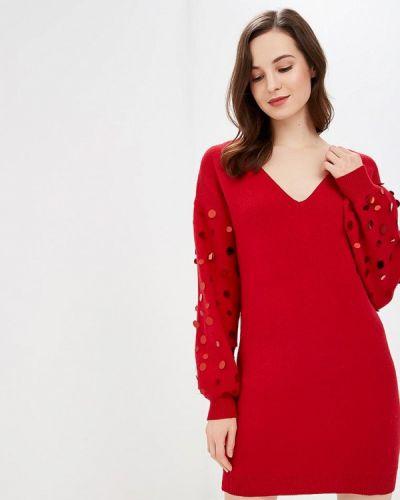 Платье осеннее красный Care Of You