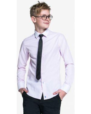 Школьная приталенная фиолетовая рубашка с длинными рукавами Orby