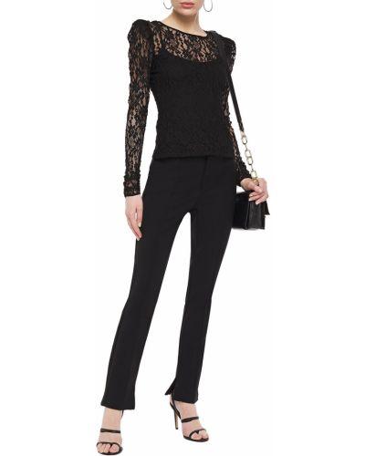 Czarne spodnie z wiskozy Bailey 44