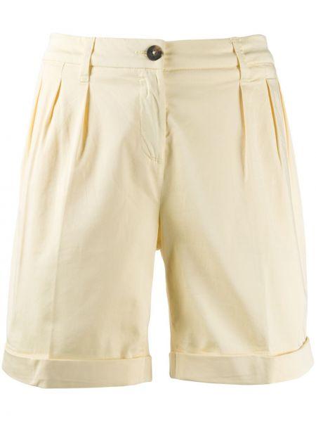 Желтые шорты со складками Fay