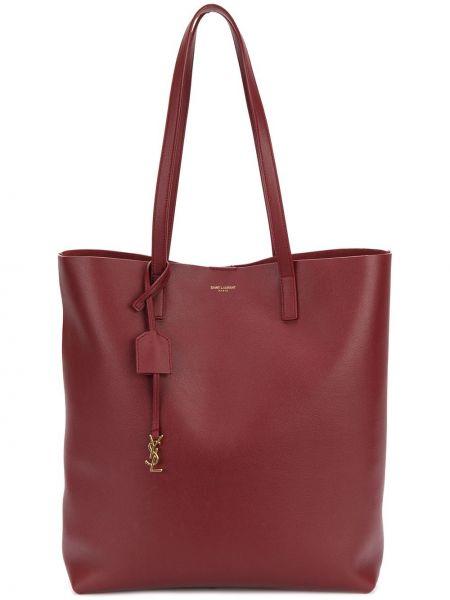 Кожаная сумка шоппер среднего размера Saint Laurent