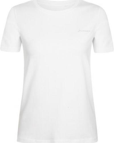 Прямая хлопковая белая спортивная футболка Demix