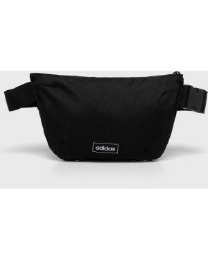 Черная текстильная поясная сумка Adidas