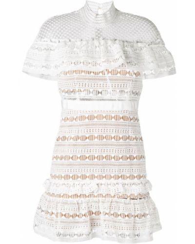 Белое платье ажурное Self-portrait