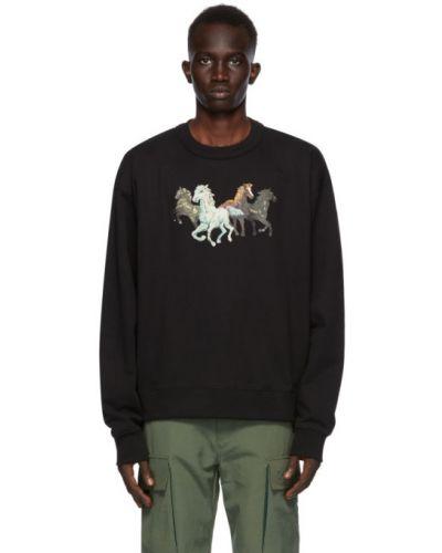 Bawełna czarny bluza z haftem z kołnierzem Kenzo