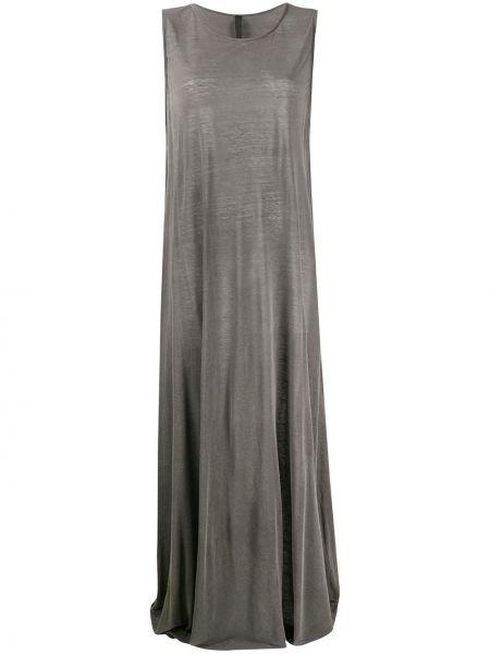 Серое платье без рукавов свободного кроя с вырезом Poème Bohémien