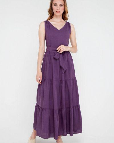 Прямое фиолетовое платье Gregory