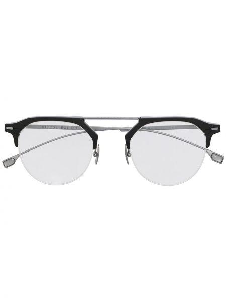 Черные очки для зрения круглые металлические Boss Hugo Boss
