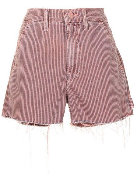 Розовые шорты из эластана Mother
