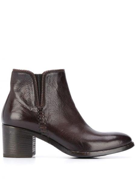 Массивные коричневые ботинки на каблуке на каблуке с декоративной отделкой Alberto Fasciani