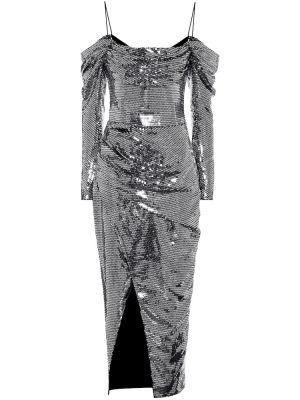 Вечернее платье с пайетками через плечо Rasario