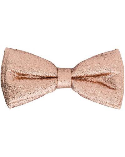 Розовая заколка металлическая с бантом Hucklebones London