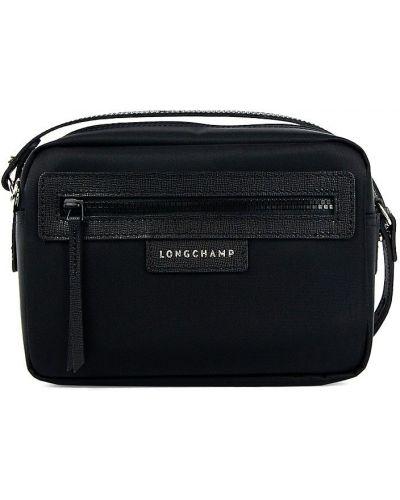 Кожаная косметичка - черная Longchamp