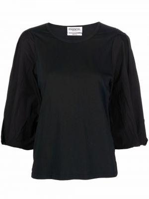 Хлопковая блузка - черная Essentiel Antwerp
