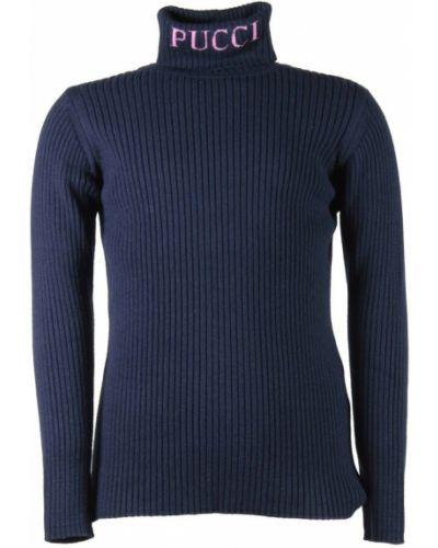 Niebieski pulower Emilio Pucci