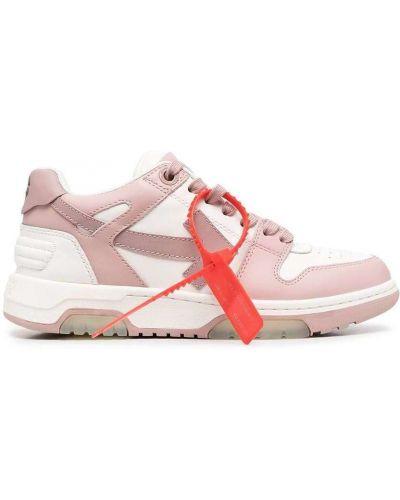 Różowe trampki niskie skorzane Off-white