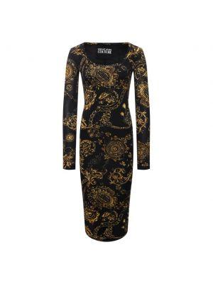 Джинсовое платье - черное Versace Jeans Couture