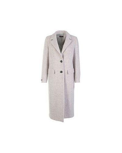 Пальто бежевое шерстяное Peserico