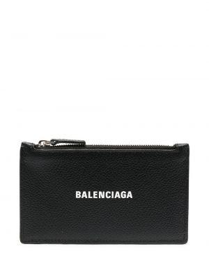 Черный кожаный клатч на молнии Balenciaga