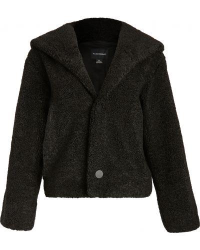 Черная длинная куртка из искусственного меха с подкладкой Club Monaco