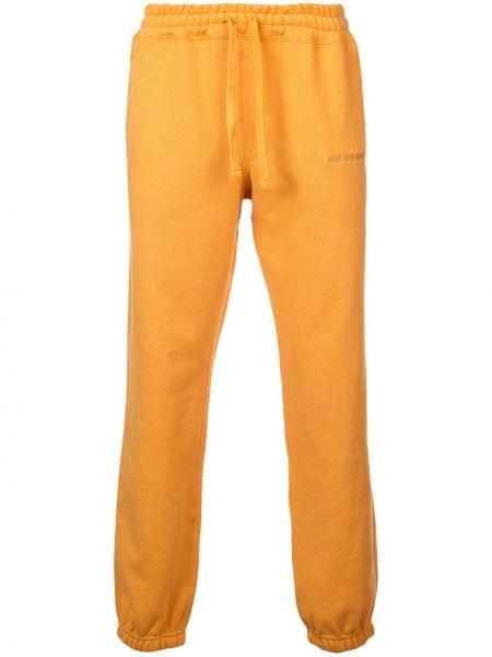 Żółte spodnie bawełniane Aime Leon Dore