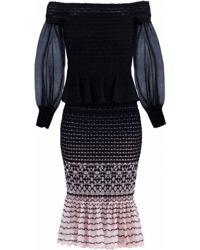 Платье миди с открытыми плечами облегающее Alexander Mcqueen