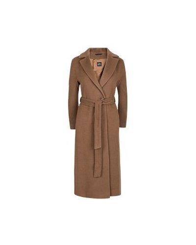 Коричневое шерстяное пальто Cinzia Rocca