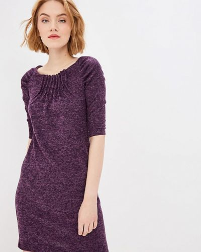 Платье осеннее фиолетовый Aelite