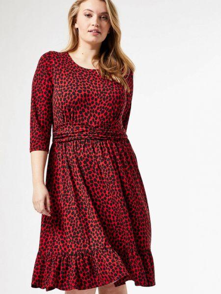 Повседневное платье красный весеннее Dorothy Perkins Curve