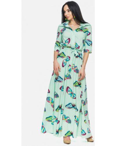 Платье весеннее зеленый 0101 Brand