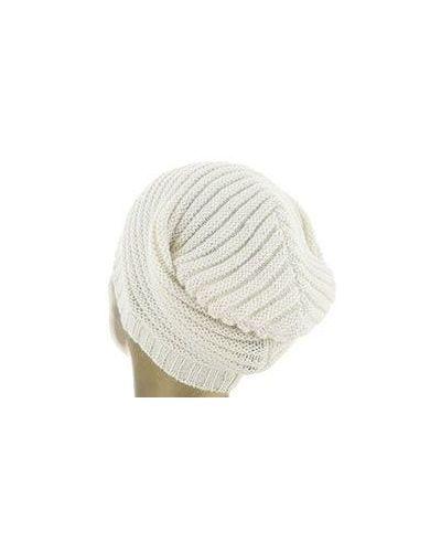 Белая зимняя шапка Alessandro Dell'acqua