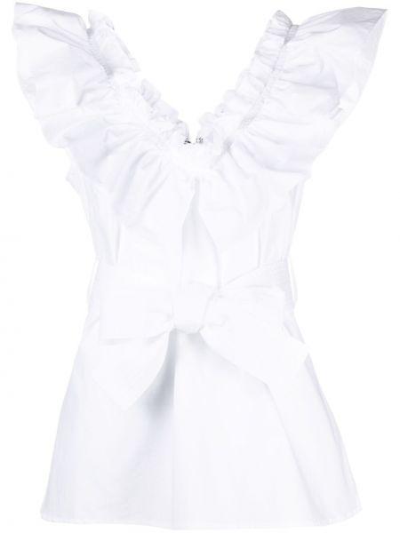 Белая блузка без рукавов со вставками P.a.r.o.s.h.