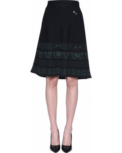 Акриловая черная юбка Luis Trenker