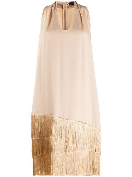 Платье миди с бахромой с воротником Antonelli