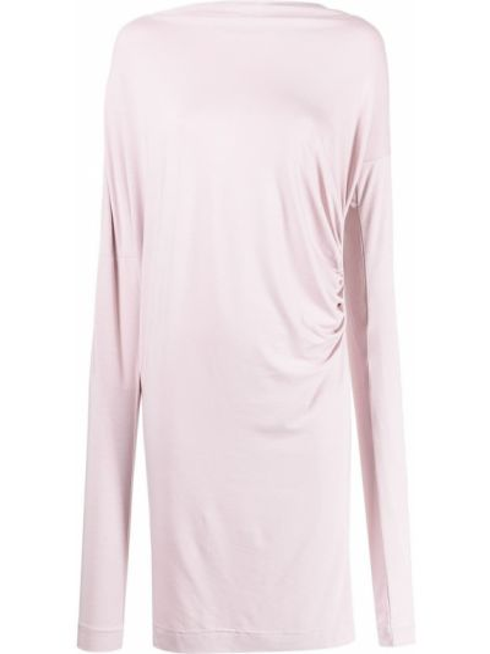 Платье макси с длинными рукавами - розовое Vivienne Westwood