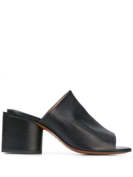 Мюли черный на каблуке Clergerie