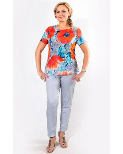Блузка с коротким рукавом со стразами из вискозы Virgi Style