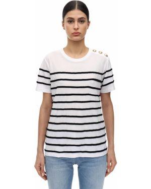Рубашка с воротником-стойкой Balmain
