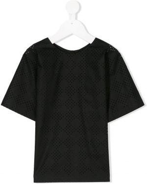 Черная футболка Manoko