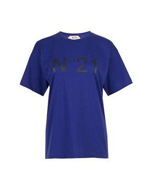 Футбольная фиолетовая футболка No.21