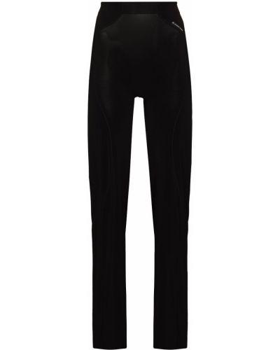 Спортивные брюки с завышенной талией - черные Marine Serre