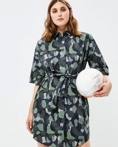 Зеленое платье осеннее Befree