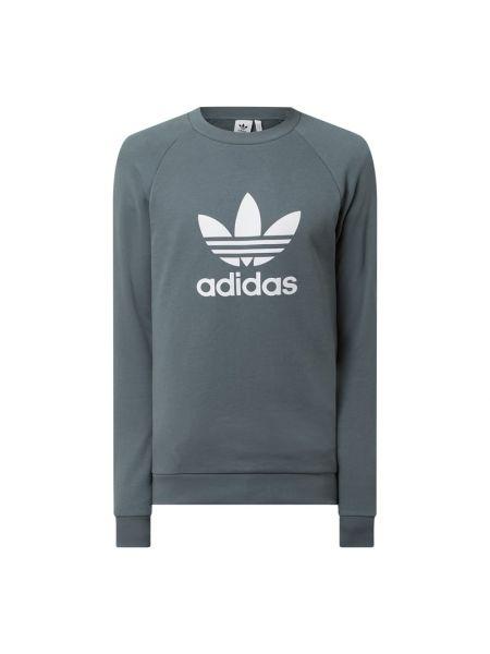 Bluza z nadrukiem z printem - turkusowa Adidas Originals
