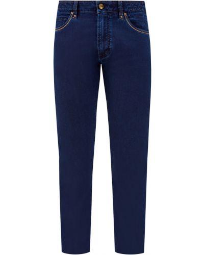 Деловые прямые джинсы с заклепками с нашивками из вискозы Cortigiani